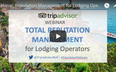 Free Reputation Management Webinar for Lodging Operators